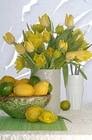 yellow springtime flower arrangment