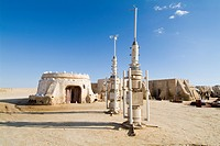 Star Wars set, Chott el Gharsa, Tunisia, North Africa, Africa