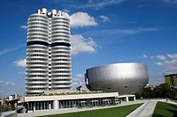 car factory BMW, administration building and museum, Munich, Germany
