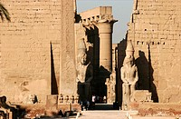 The temple of Karnak in Louxor South Egypt