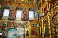 18th century paintings in the refectory of the Church of St Demetrios on the Blood, Uglich. Golden Ring, Russia
