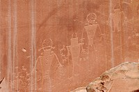 Indian Rock inscriptions Capitol Reef National Park Southwest USA Utah USA