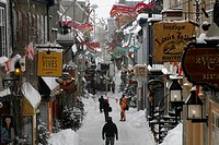 The Petit_Champlain street during winter Quebec