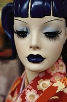 Face of Japanese mannequin