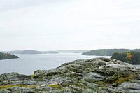 Lake scene with rocky coast (thumbnail)