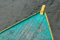 Prow of rowboat, close-up