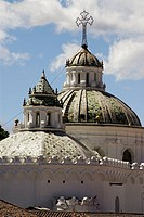 Ecuador.Quito.Historical center.Domes of the Church of the Jesuits (XVII-XVIII centurys)