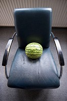 Melon on chair
