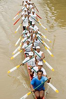 A team of local Khmers train for the annual Water Festival in Siem Reap This festival celebrates with end of the monsoon