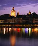 Kapellbrucke, covered wooden bridge, over the Reuss River, Lucerne Luzern, Switzerland, Europe