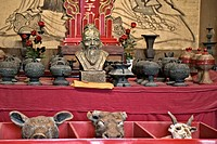 Confucious and strange animal artifacts, Confucius Temple Fuzimiao, Nanjing, China