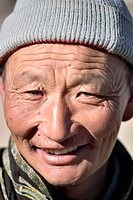 Mature Mongolian man with blue eyes, north central Mongolia No release available