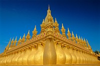 Gold stupas, Pha That Luang, Vientiane, Laos