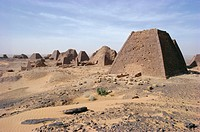 Bajrawiya, the Pyramids of Meroe, Sudan, Africa
