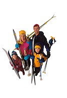 Family with Cross_country Ski Gear