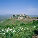 Crac des Chevaliers, Crusader castle, 1150_1250, built by the Knights Hospitaller, Syria, Middle East