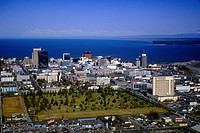 Aerial of Anchorage Skyline Summer Alaska