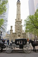 The Historic Water Tower, North Michigan Avenue, Chicago, Illinois, United States of America, North America