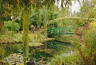 Water garden and bridge, Monet´s garden, Giverny, Haute Normandie Normandy, France, Europe