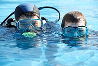 Diving courses, Mendiexpo fair, FICOBA, Irun, Guipuzcoa, Basque Country, Spain