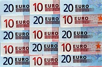 Eurosedlar, Close_Up Of Euro Currency