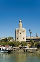 Torre del Oro, El Arenal district, Seville, Andalusia Andalucia, Spain, Europe