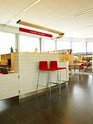 Modern Arkitektur. Bonniers Konsthall, Stockholm, Folders On Shelves In Empty Office