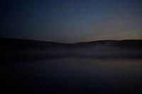 Fjällsjö I Skymning Och Dimma, Lake With Mist At Dusk