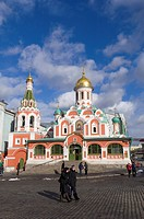 Kazansky Cathedral, Red Square, UNESCO World Heritage Site, Moscow, Russia, Europe