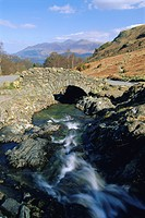 Ashness Bridge, Borrowdale, Lake District National Park, Cumbria, England, UK