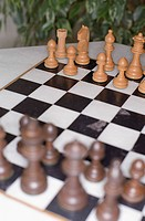 Chessboard on a Table _ Parlor Game _ Strategy