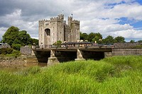 Clouds over a castle, Bunratty Castle, Bunratty, County Clare, Munster Province, Republic of Ireland
