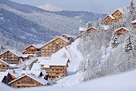 Meribel in winter, Rhone_Alpes, France