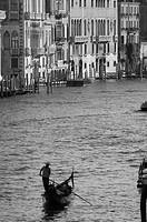 Lone Gondola, Grand Canal, Venice, Italy