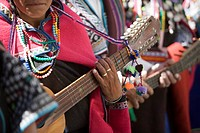 Musician at Carnival, Sucre, Bolivia, South America