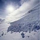 Lavinkägla, Tjuoltavagge, Sarek, Sun Shinning Amist Snow Mountains