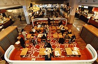 Restauranger I Kista Galleria, People Sitting In Restaurant In Galleria, Elevated View