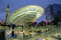 Skywalk, Nagoya city center, Japan