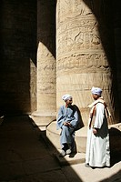 In the temple of Edfu, Egypt, North Africa, Africa