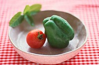 Tomato And Bell Pepper In Bowl