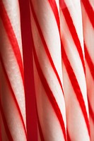 Stripy candy canes close_up