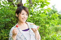 The Japanese Woman Who Eats A Strawberry