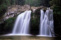Ojos del Carburgua, waterfalls, Chile, South America