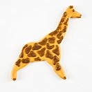 Sugar cookie in shape of giraffe with decorative icing