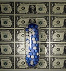 Medicine Capsules on American Currency