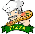 holding, business, food, pizzeria, pizza chef, pizza