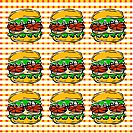 Design arts, wallpaper, indoors, background, hamburger, decorative art, pattern (thumbnail)