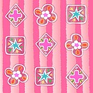 cross, wallpaper, indoors, background, pink, pattern