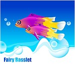 fishes, sea, underwater, undersea, ocean, FairyBasslet