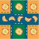 indoors, wallpaper, background, orange, fruit, orange slice, pattern
